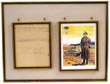 811: German WWII recommendation signed Rommel