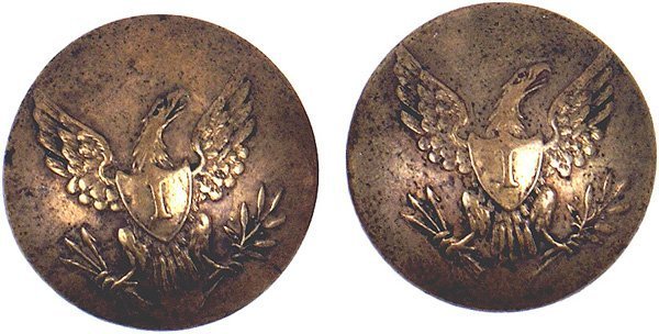 5: Lot of 2 U.S. Infantry buttons