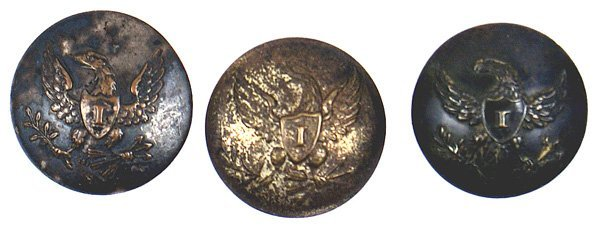 7: Lot of 3 U.S. Infantry buttons