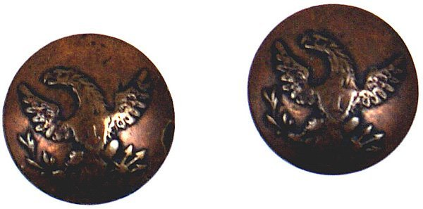 8: Lot of 2 U.S. Infantry cuff buttons