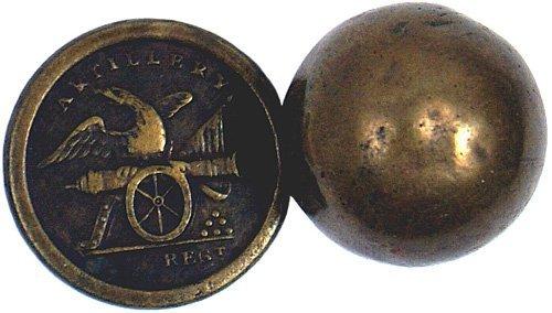 10: Lot of 2 U.S. Militia Artillery buttons
