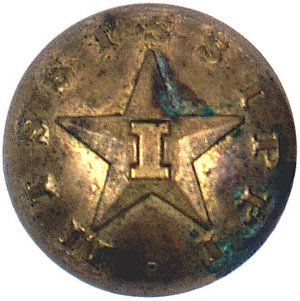 23: Confederate Mississippi infantry button