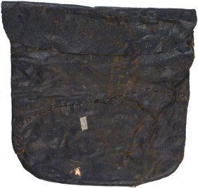 Civil War Black Oilcloth Haversack