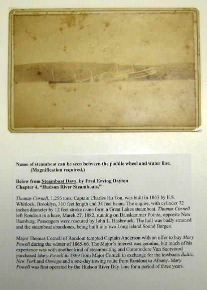 123: Albumen print of the Steamboat THOMAS CORNELL