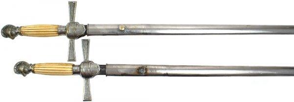 138: Pair of U.S. Militia NCO type sword