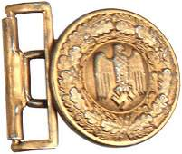 407 German WWII Army officer belt buckle