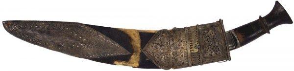 "13: 19th Century Gurkha ""Kukri"" dagger"