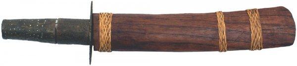 17: Southeast Asian dagger circa 1880