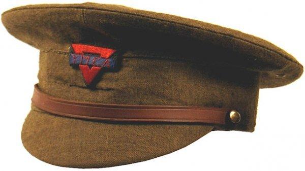 509: U.S. WWI YMCA peaked cap