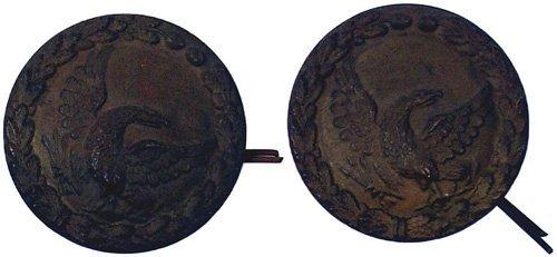 12: U.S. shako tar bucket buttons