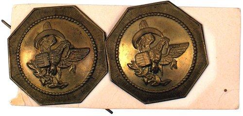 13: U.S. shako tar bucket buttons