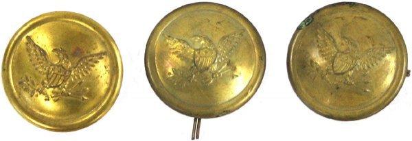 14: U.S. shako tar bucket buttons