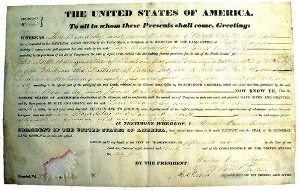 20: U.S. Presidential Document Van Buren