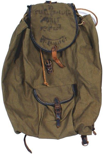 169: German WWII Army rucksack bag