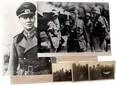 272: Lot of 6 German WWII Rommel photos