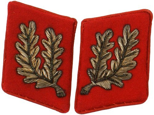 465: German WWII NSDAP collar tabs