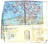 671 US WWII pilot escape map