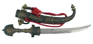 Quality made antique Moroccan jambiya dagger