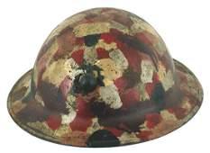 US Marine WWI camouflage helmet