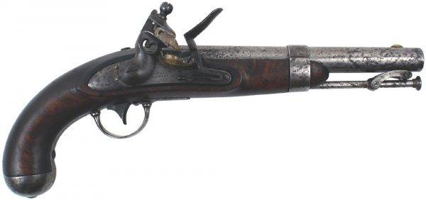 7: U.S. M1836 flintlock pistol