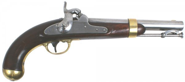 8: U.S. M1842 percussion pistol