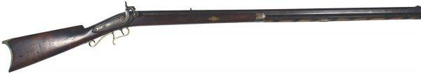 15: American half-stock percussion rifle