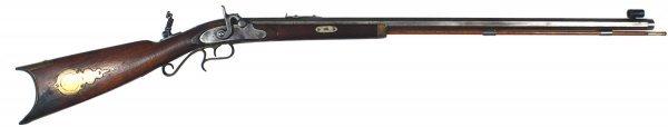 16: American half-stock percussion rifle