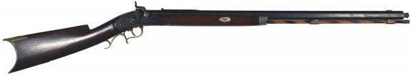 17: American half-stock percussion rifle