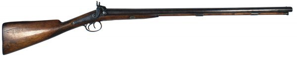 20: English double-barrel percussion shotgun