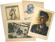 512 German WWII portfolio of 12 prints
