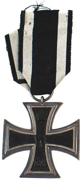 1: German WWI 1914 Iron Cross 2nd Class medal