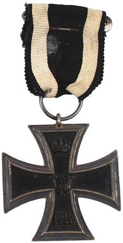 3: German WWI 1914 Iron Cross 2nd Class medal