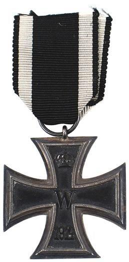 5: German WWI 1914 Iron Cross 2nd Class medal