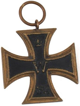 12: German WWI 1914 Iron Cross 2nd Class medal