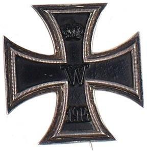 16: German WWI 1914 Iron Cross 1st Class medal