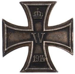 17: German WWI 1914 Iron Cross 1st Class medal