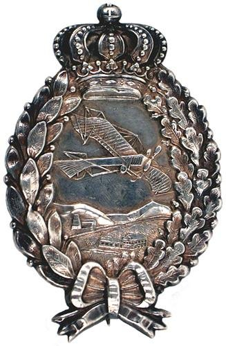 23: German Bavarian WWI silver Pilot Badge