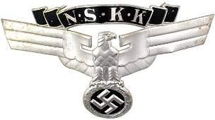 436: German WWII NSKK 1st crash helmet badge