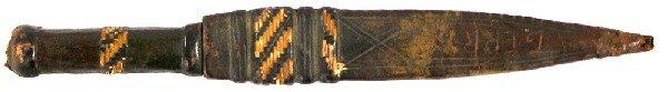 11: African dagger Circa 1900