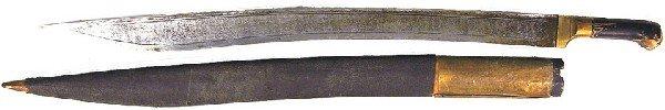 14: Caucasus short sword Yataghan dagger