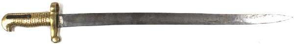 100: Unknown Civil War sword bayonet