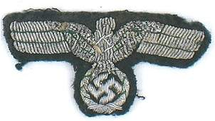 430 German WWII Army eagle for oseas cap