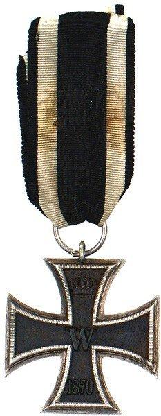 1: German 1870 Iron Cross 2nd Class medal