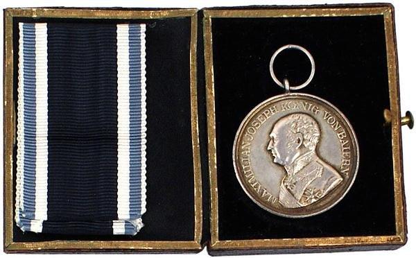 16: German Bavarian Military Bravery Medal Silver