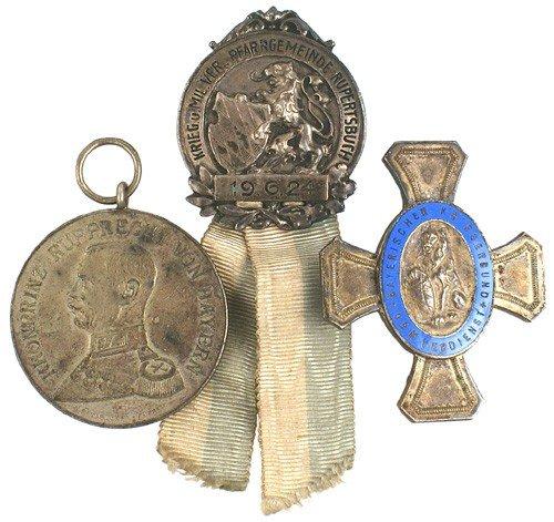 17: Lot of 2 Imperial German Bavarian medals