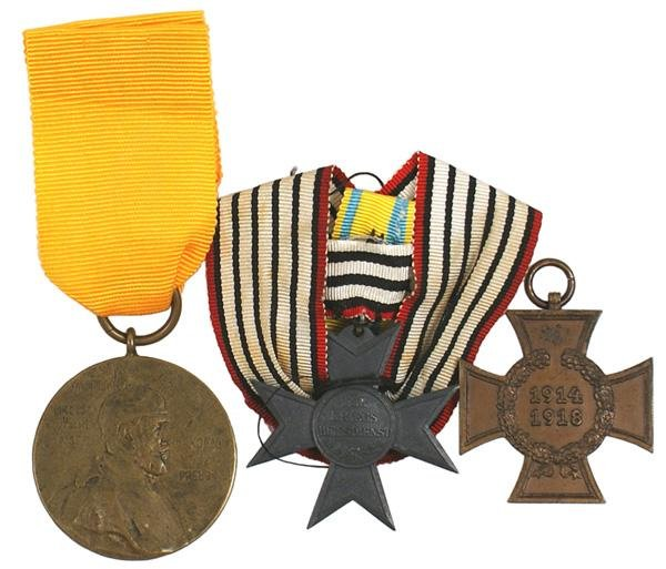 21: Lot of 3 Imperial German medals