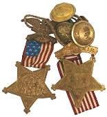 221 Civil War GAR Members Badge buttons etc