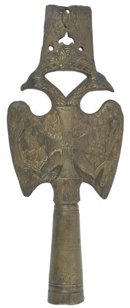 4: Imperial Russian bronze pole top