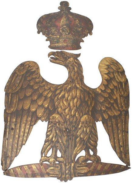 5: Rare Napoleonic Kaserne military post Eagle