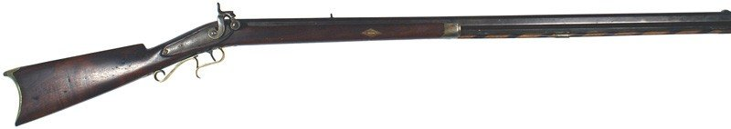 11: American half-stock percussion rifle